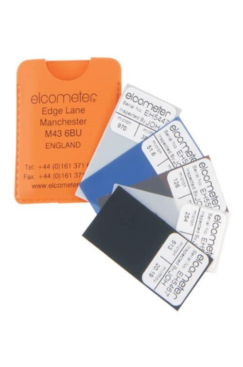 Elcometer 456 Coating Thickness Gauge / Digital Dry Film Thickness Gauges (DFTG) Calibration Foils / Coated Standards / Zero Test Plates