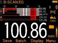 Elcometer MTG8 Ultrasonic Material Thickness Gauge B-Scan Reading